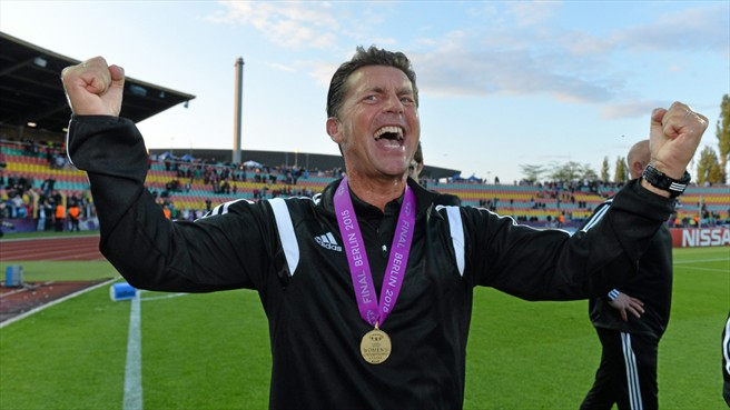 Coach Colin Bell has left FFC Frankfurt to take over at Norwegian club Alvadsnes IL. Frankfurt won the UEFA Women's Champions League title under Bell in May. (Photo: UEFA.com)