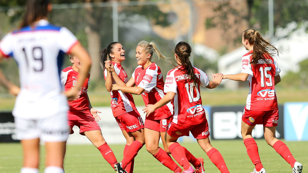 Adelaide is close to securing a Westfield W-League playoff berth for the first time. (Photo Courtesy Westfield W-League)