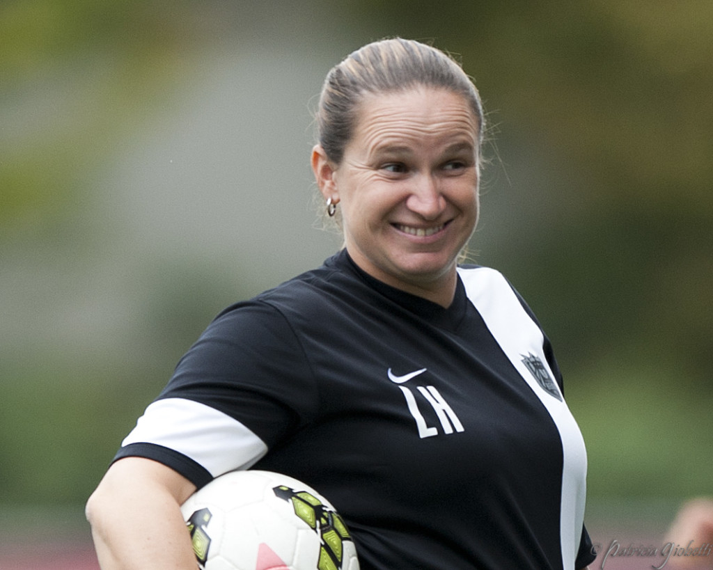 Seattle Reign FC coach Laura Harvey. (Photo Copyright Patricia Giobetti for The Equalizer)