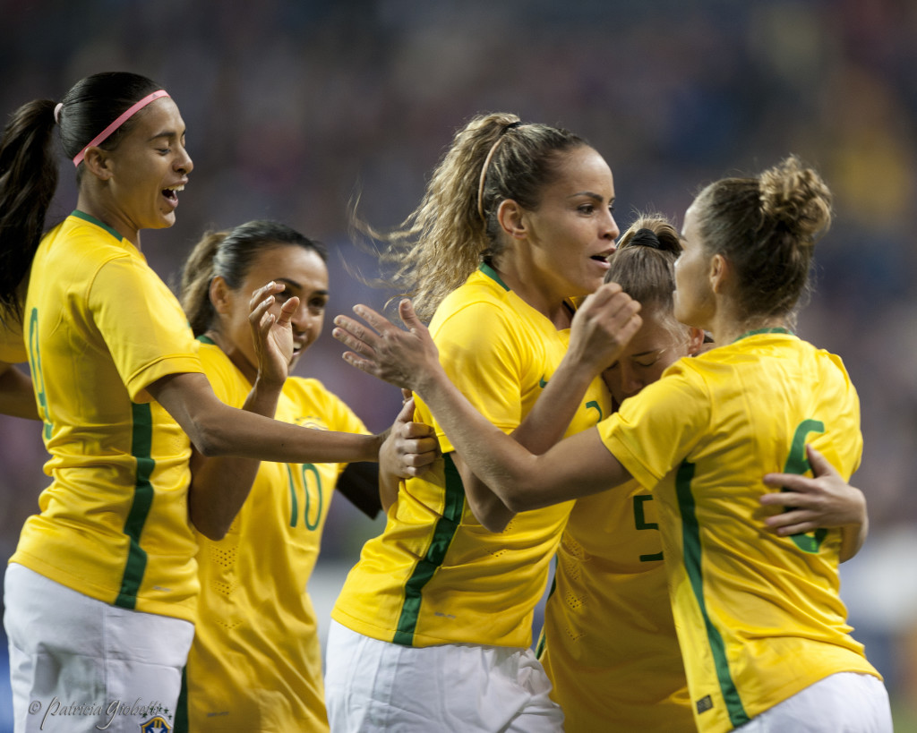 Brazil defender Mônica (center) will play for Orlando Pride in the NWSL, sources tell The Equalizer. (Photo Copyright Patricia Giobetti for The Equalizer)