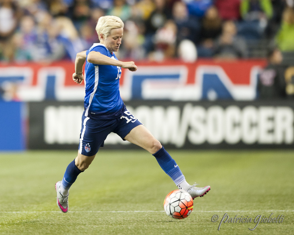 Megan Rapinoe hasn't played competitively since October, when this photo was taken. (Photo Copyright Patricia Giobetti for The Equalizer)