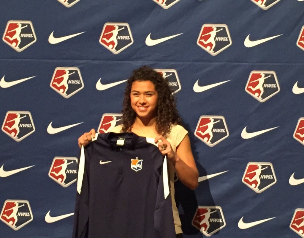 Sky Blue FC selected Raquel Rodriguez with the No. 2 overall pick in the 2016 NWSL College Draft. (Photo Copyright Jeff Kassouf/The Equalizer)