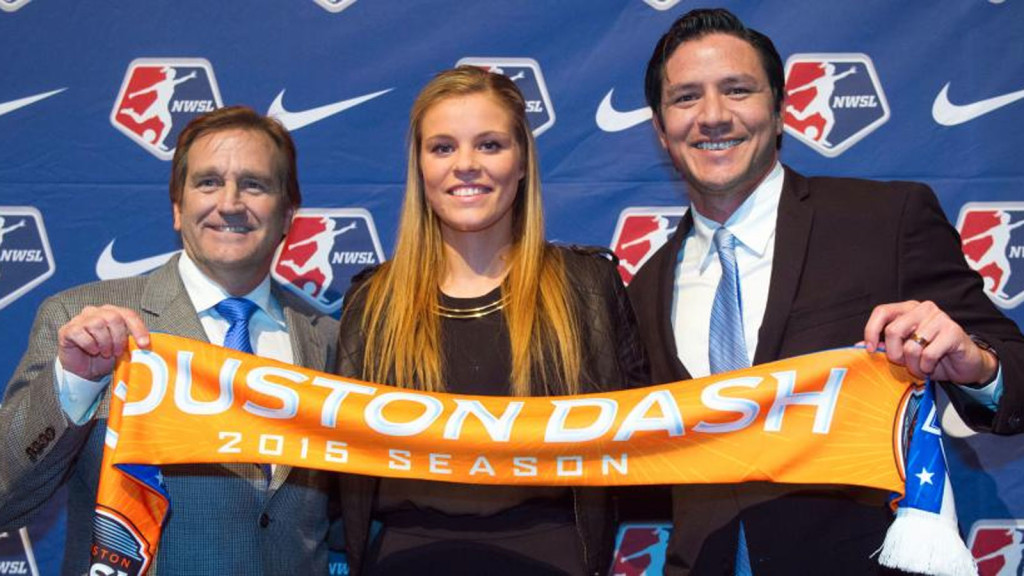 Rachel Daly looks to make an impact with the Houston Dash after being drafted No. 6 overall. (Photo: NWSL)
