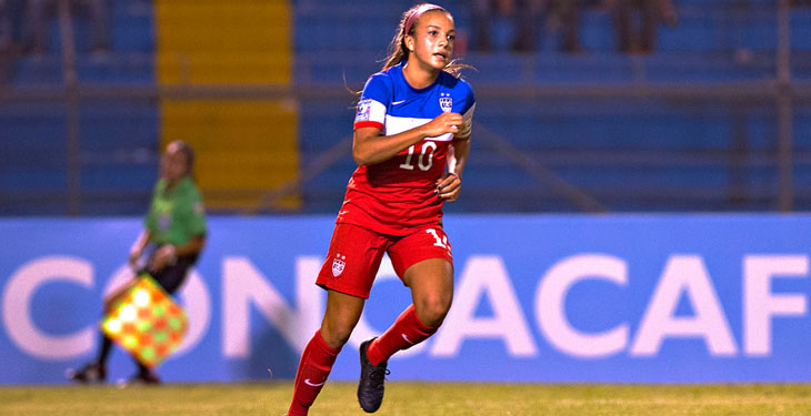 Mallory Pugh will not turn professional in the NWSL with Portland Thorns FC, according to her father, who says Pugh will attend UCLA in the fall. (Photo: CONCACAF)