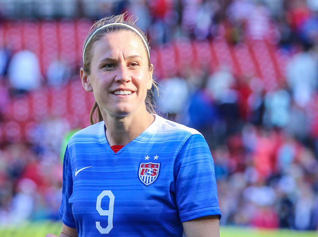 Heather O'Reilly was left off the USWNT's Olympic qualifying roster. She has 228 caps and three Olympic gold medals. (Photo Copyright Erica McCaulley for The Equalizer)