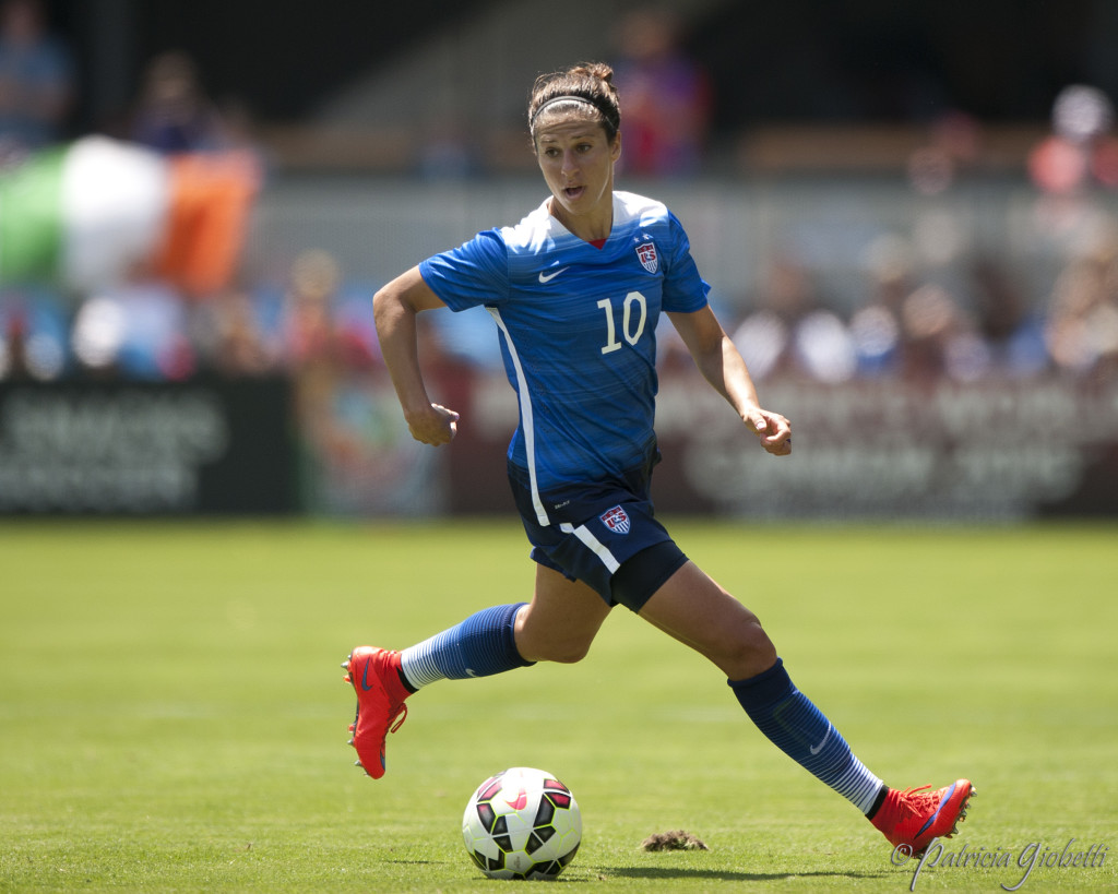 Carli Lloyd's position within the USWNT will be vital at the Olympics. (Photo Copyright Patricia Giobetti for The Equalizer)