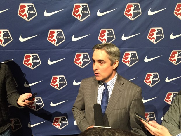 NWSL commissioner Jeff Plush says the FOX deal is not an exclusive. (Photo Copyright Jeff Kassouf for The Equalizer)