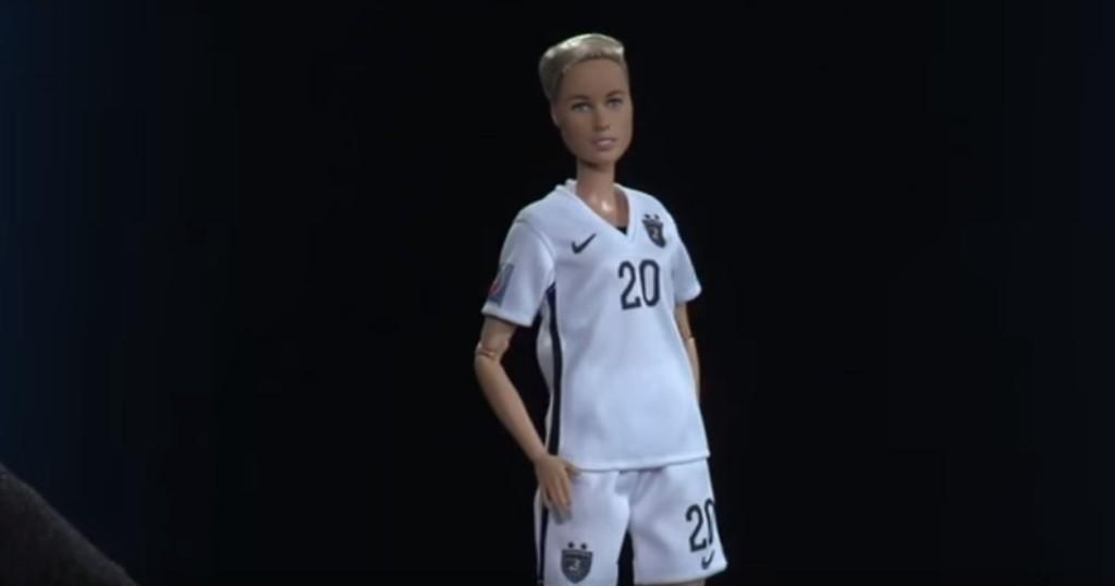 Abby Wambach's Barbie doll by Mattel. (Photo: YouTube)