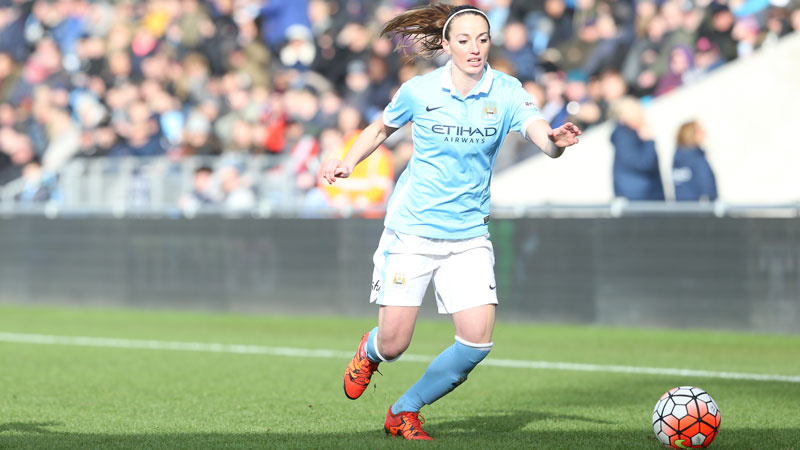 Kosovare Asllani says Manchester City's facilities are second to none in the women's game. (Photo: Manchester City)