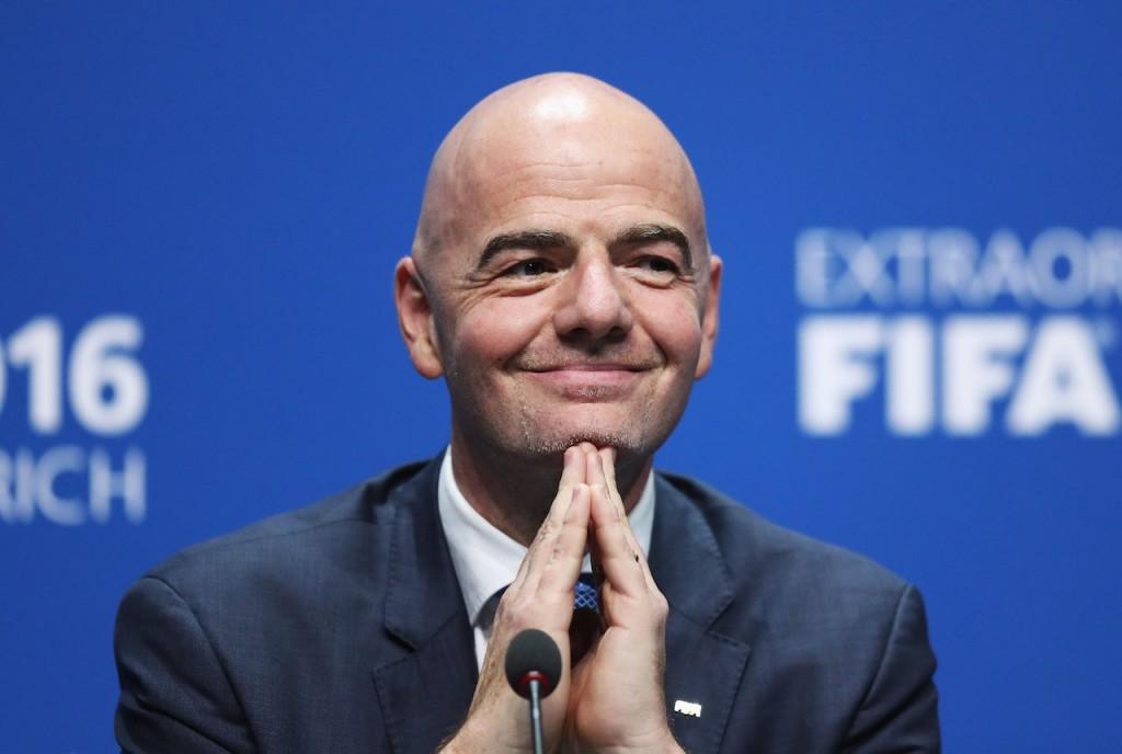 New FIFA president Gianni Infantino.