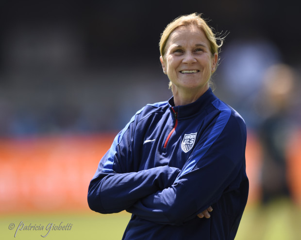 USWNT coach Jill Ellis faces another balancing act ahead of the Rio 2016 Olympics. (Photo Copyright Patricia Giobetti for The Equalizer)