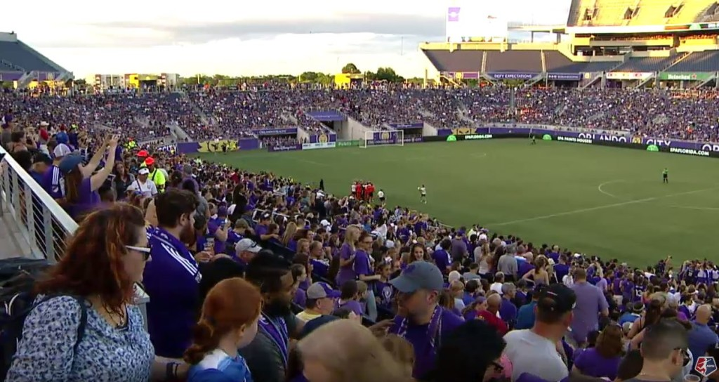 The new NWSL single-game attendance record belongs to the Orlando Pride, who hosted 23,403 fans on Saturday at the Citrus Bowl.