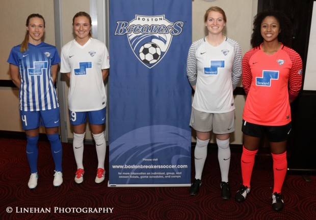 The Breakers have spiffy new uniforms for 2016.  But how much can they improve from last season's basement finish? (photo copyright Linehan Photography for The Equalizer.)