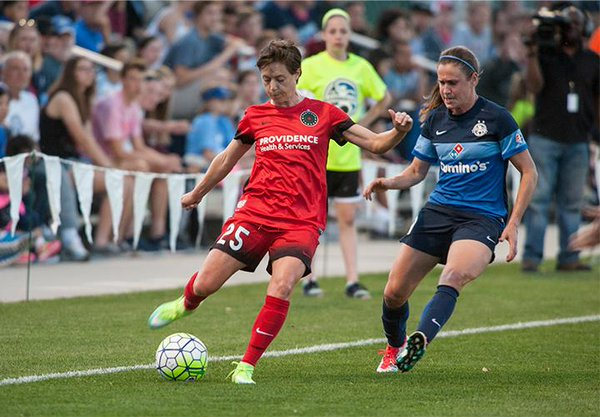 Meghan Klingenberg returned to play 45 minutes for the Thorns on Saturday, (Photo: NWSL)