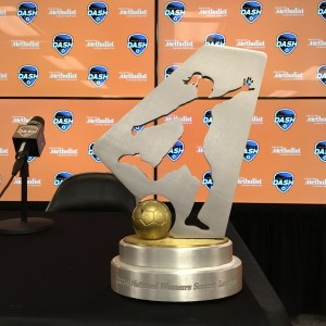 The NWSL Championship trophy. (Photo: Houston Dash)