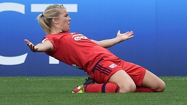 Ada Hegerberg has been named the best player in Europe.