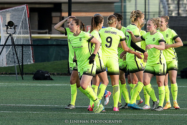 Seattle Reign FC was fined an undisclosed amount after coach Laura Harvey criticized a match official and the team sent out an ill-advised press release. (Photo Copyright Clark Linehan for The Equalizer)