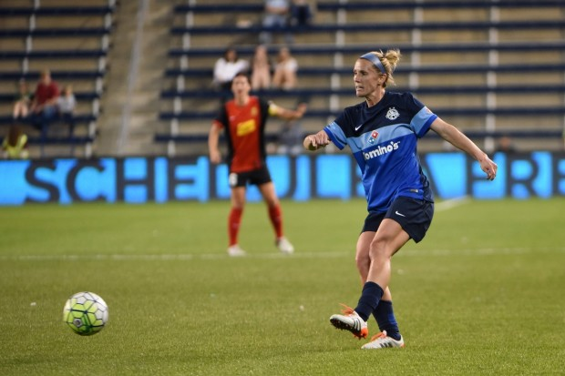 Ironwoman Jen Buczkowski will retire following FC Kansas City's May 13 match against the Chicago Red Stars. (Photo Courtesy FC Kansas City)