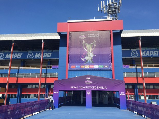 Mapei Stadium in Italy will host Thursday's UEFA Women's Champions League final. (photo credit:  Kieran Thievam)