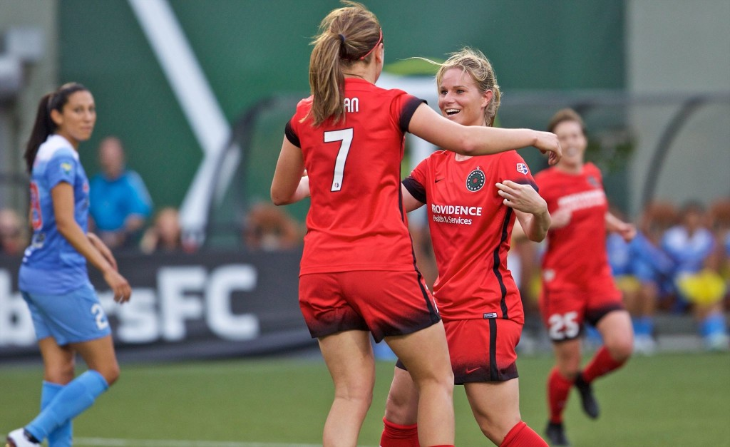 The Portland Thorns clinched the 2016 NWSL Shield with a 3-1 over Sky Blue. (Photo Courtesy Portland Thorns FC)