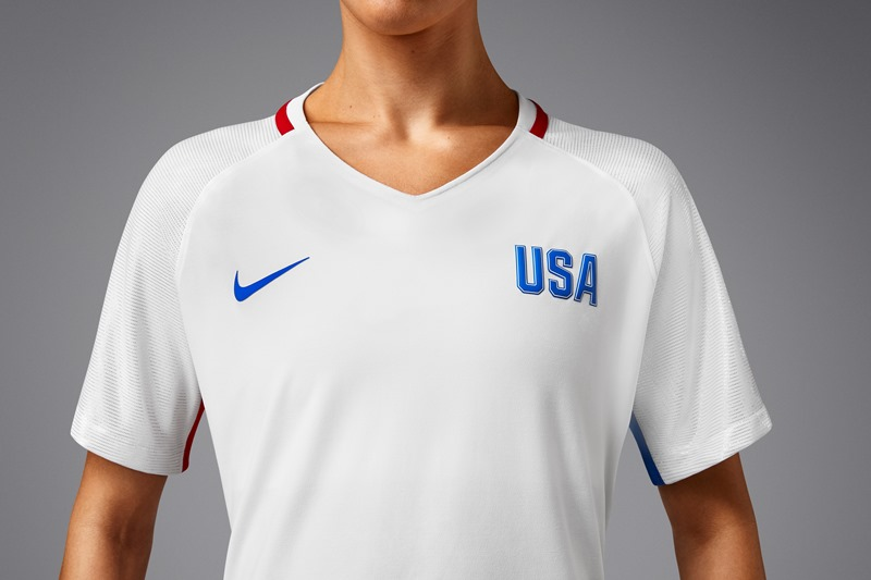 USWNT gets new Olympic kit with  platinum  sleeves – Equalizer Soccer 80b3e2e766