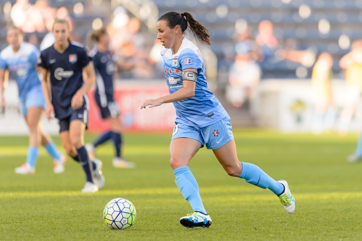 Vanessa DiBernardo scored the equalizer in Chicago's 2--1 home win over Sky Blue FC. (photo credit: John D Halloran)