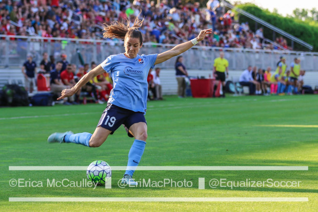 Kelley O'Hara made her first start of the season in an advanced position and the move paid dividends for Sky Blue FC (photo copyright EriMac Photo for The Equalizer)