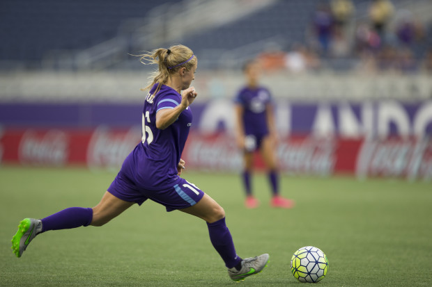 Leah Fortune had the game-winning assist in her NWSL debut (photo courtesy: Orlando Pride)