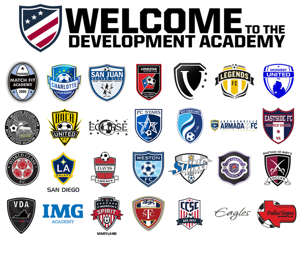 160710 US Soccer Development Academy teams