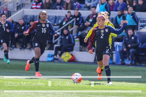 Mallory Pugh (2) figures to be a big part of the U.S. women's team for many years to come. (Photo Copyright Erica McCaulley for The Equalizer)