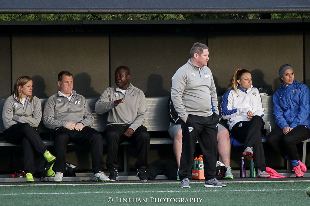 Breakers coach Matt Beard. The Breakers Reserves won the WPSL title on Sunday. (Photo Copyright Clark Linehan for The Equalizer)