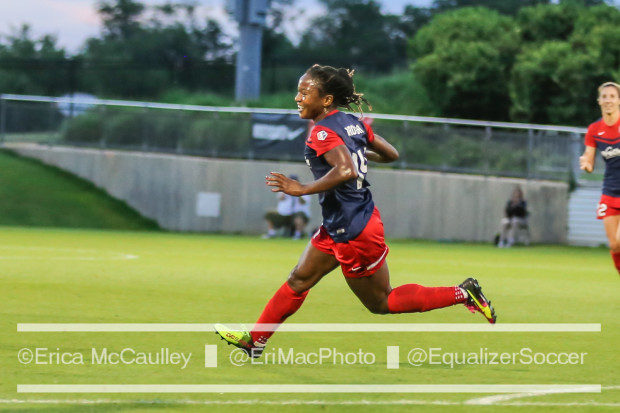 Francisca Ordega came off the bench and scored in the Spirit's 2-0 win over FC Kansas City (photo copyright EriMac Photo for The Equalizer)