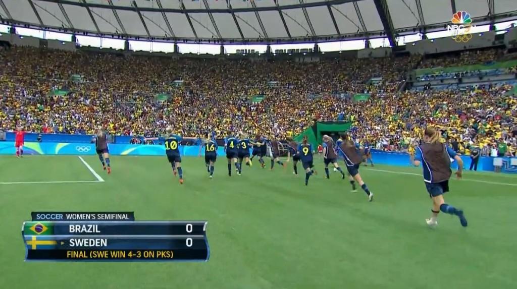 Sweden celebrates another PK shootout-victory.