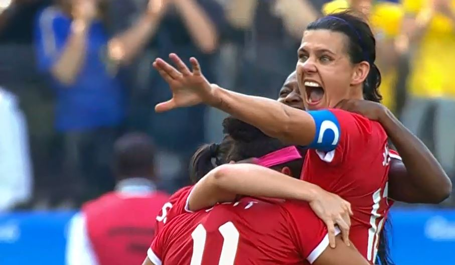 Christine Sinclair scored the game-winner as Canada won a second straight Olympic bronze medal in women's soccer.