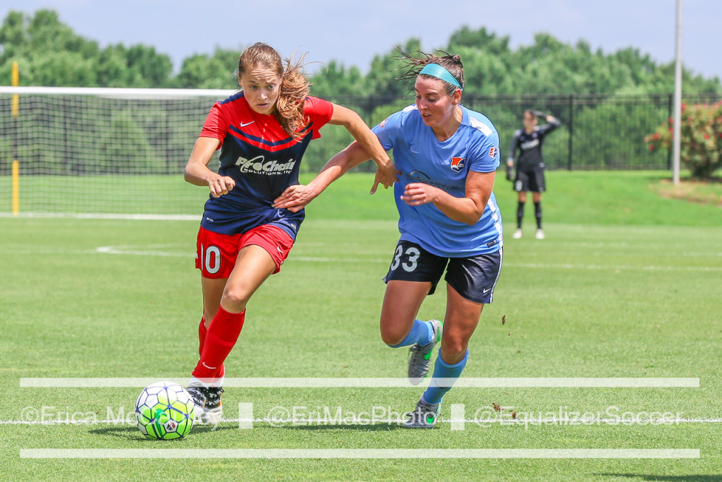 Estefania Banini lit up the scoreboard in July for the Washington Spirit. (Photo Copyright Erica McCaulley for The Equalizer)