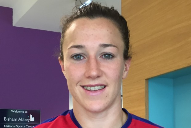 Fullback Lucy Bronze was one of the breakout stars of the 2015 World Cup. (photo credit: Harjeet Johal)