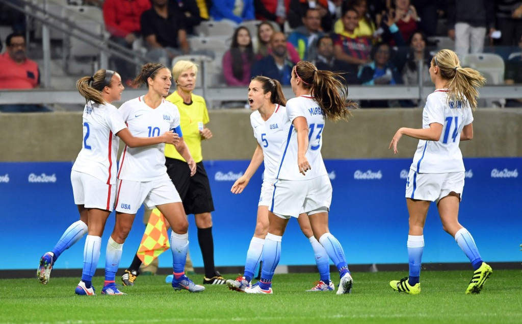 The U.S. women comfortably beat New Zealand, 2-0 to open the Rio 2016 Olympics. (Photo: USA Today)