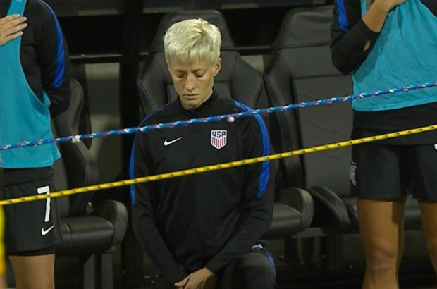 Megan Rapinoe took kneeling for the National Anthem into the women's soccer world.