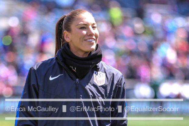 Hope Solo will serve as Commissioner of Women's Soccer during Eurosport's 2017 Euro coverage. (Photo Copyright Erica McCaulley for The Equalizer)