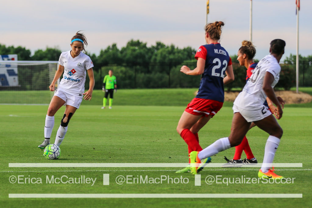 Shea Groom and FC Kansas City, the two-time defending NWSL champions, are all but out of playoff contention. (Photo Copyright Erica McCaulley for The Equalizer)