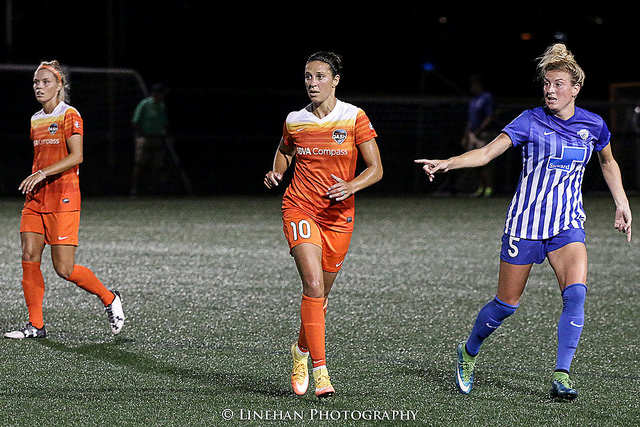 Carli Lloyd returned to the Dash after spending the spring with Manchester City. (Photo Copyright Clark Linehan for The Equalizer)