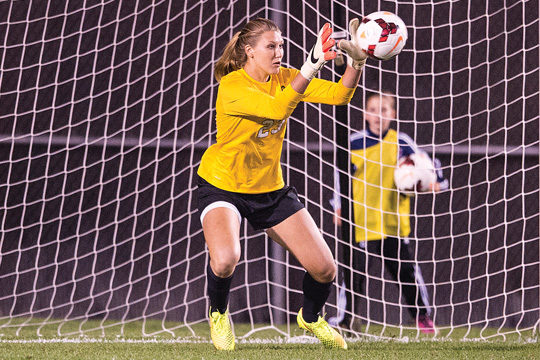 Casey Murphy of Rutgers saw time in goal for the U.S. U-20s over the weekend (photo: Rutgers)