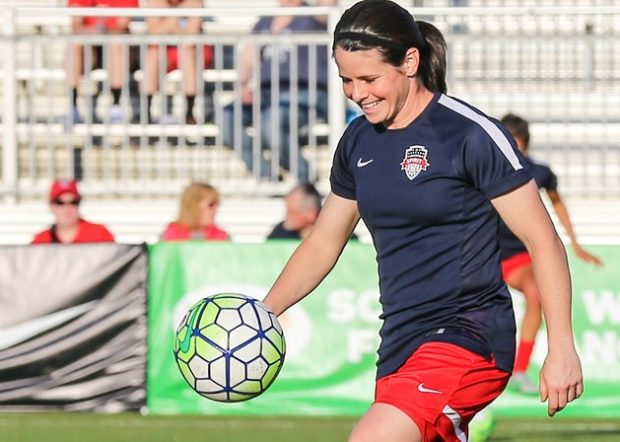 Diana Matheson, along with Tori Huster and Ali Krieger, were part of the 3-14-5 season in 2013. (photo copyright EriMac Photo for The Equalizer)