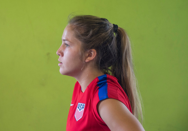 Ashley Sanchez set up both U.S. goals in a dramatic, late win to advance at the U-20 World Cup. (Photo: USSF)