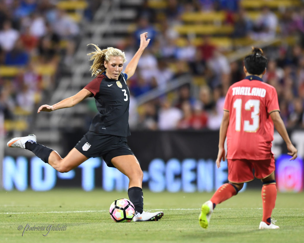 Allie Long played center back in a 3-5-2 as the U.S. comfortably defeated Switzerland, 4-0. (Photo Copyright Patricia Giobetti for The Equalizer)