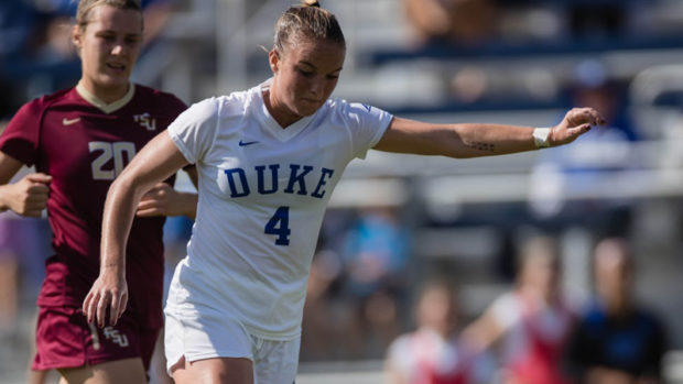 Ashton Miller scores from distance in Duke's ACC quarterfinal loss to Florida State.
