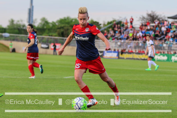Joanna Lohman lost two finals with the Philadelphia Independence. Sunday she gets another chance with her hometown Washington Spirit (photo copyright EriMac Photo for The Equalizer)