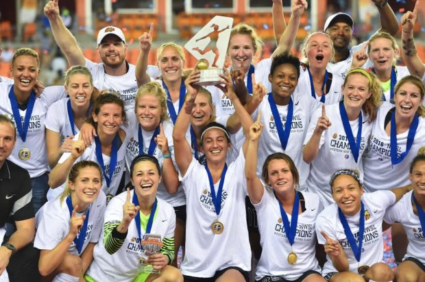 The Flash championship celebration was the club's last on-field act representing Western New York. (photo credit: Brad Smith, ISI Photos; courtesy of NWSL)