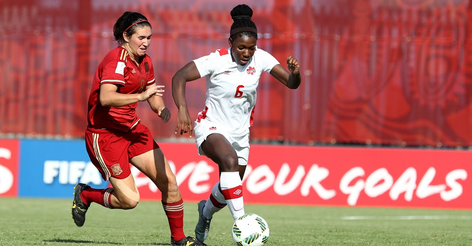 Spain thrashed Canada, 5-0 on the opening day of the 2016 U-20 Women's World Cup.