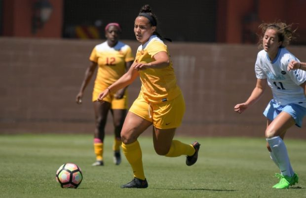 Transfer Alex Anthony leads USC with 10 goals this season. (photo courtesy USC Women's Soccer Twitter)